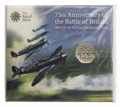 2015 50p Battle Of Britian Uncirculated Coin Pack